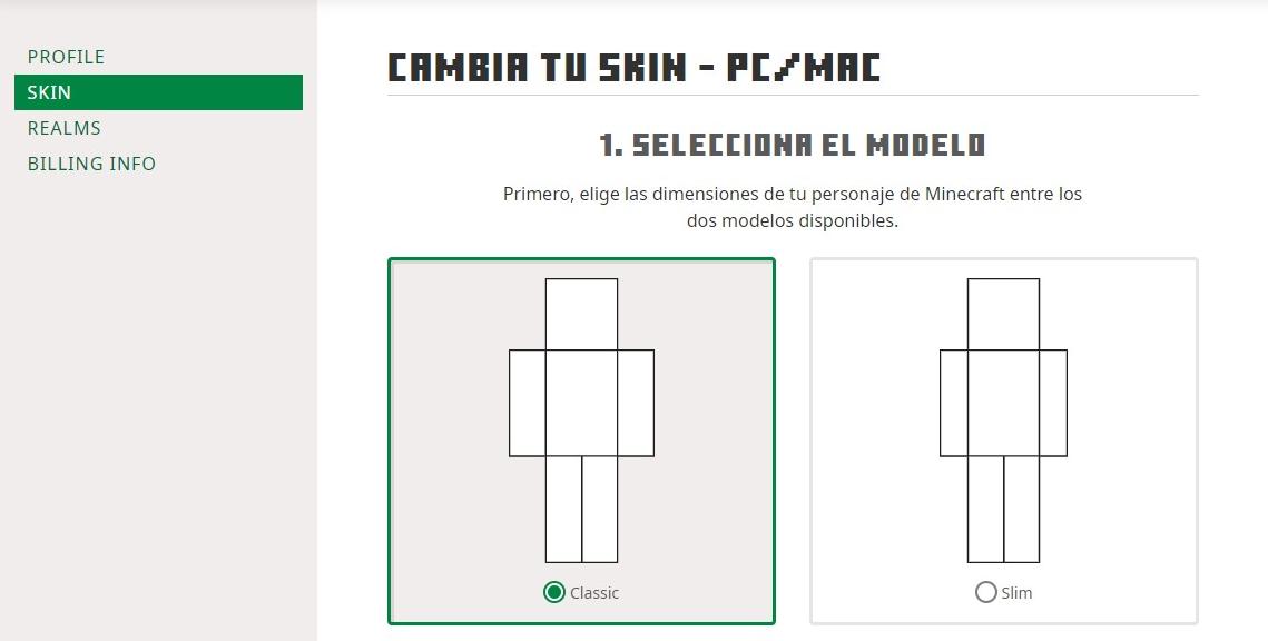 Como cambiar de skin en minecraft premium